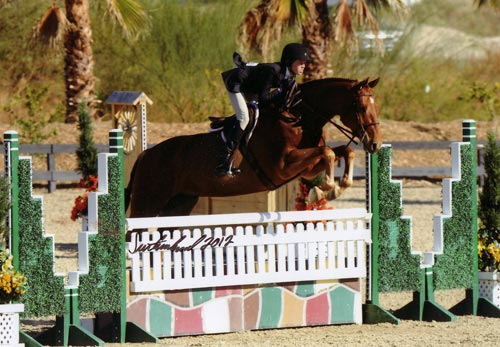 Ally Worthington and Castell 2012 HITS Desert Circuit Photo Flying Horse