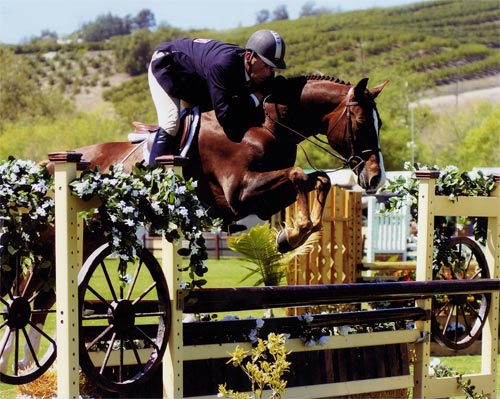 Archie Cox and Andiamo owned by Janie Andrew Champion 2nd Year Green Hunters Blenheim 2007_Photo by JumpShot