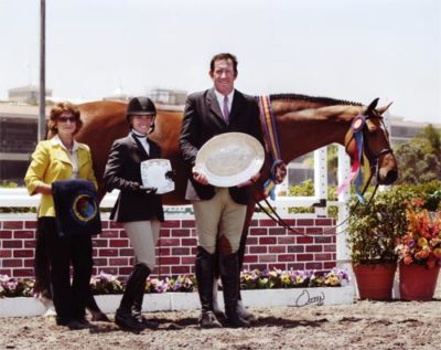 Archie Cox and Back in the Game, owned by Laura Wasserman Champion High Performance Hunters 2011 Del Mar National Photo Rick Osteen
