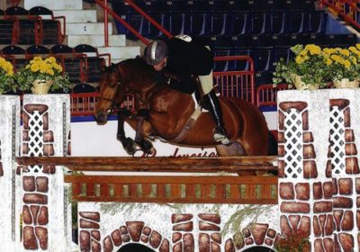 Archie Cox and White Oak owned by Delanie Stone Regular Conformation Champion 2007 Pennsylvania National Photo Randi Muster
