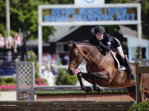 Emma Gerber and Stay Tuned Small Junior Hunter 16-17 2012 Devon Horse Show Photo The Book LLC