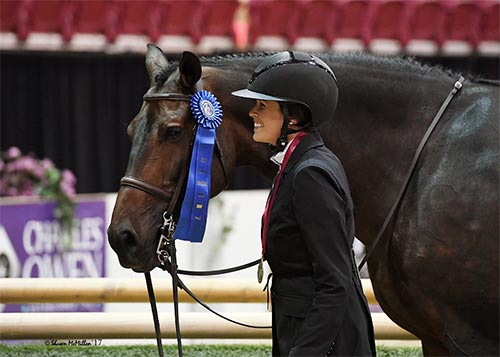 "Lindsay Maxwell and Belgravia Grand Champion Amateur Owner Hunter 3'3"" 2017 Capital Challenge Photo by McMillen"