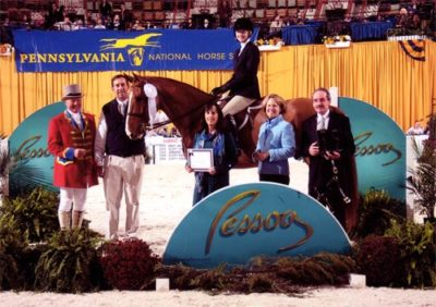 Lucy Davis and Patrick owned by Old Oak Farm 4th Place USEF Hunter Seat Medal 2010 Pennsylvania National Photo Al Cook