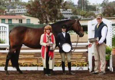 Lucy Davis Lifetime Trophy Retired Winner 2007 2008 2009 High Point Junior Rider Del Mar National 2009 Photo Osteen