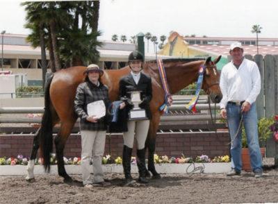 Montana Coady and Winnetoe Winner of the Pep Talk Perpetual Trophy 2013 Del Mar National Horse Show Photo Osteen