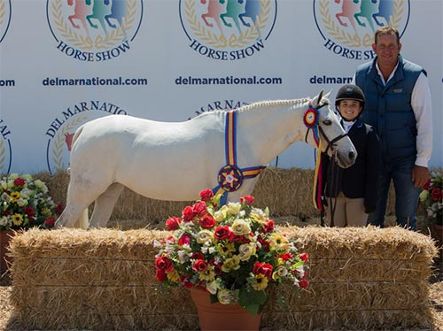 Stella Wasserman and Blueberry Hill Champion Small Pony Hunter 2016 Del Mar National
