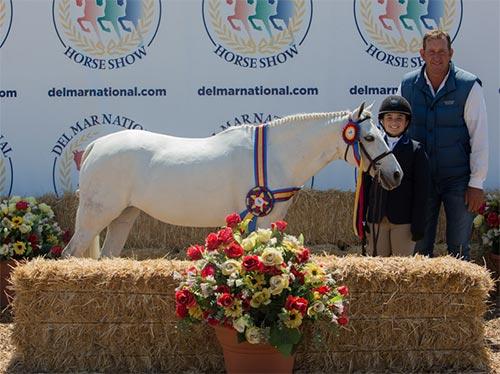 Stella Wasserman and Blueberry Hill Champion Small Pony Hunter 2016 Del Mar National