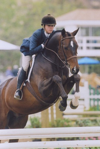 Teddi Mellencamp and Coventry 1st Year Green Hunters 2008 Showpark Spring Series Photo Deb Dawson