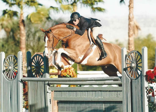Nick Haness and Ecole Lathrop's Banderas Champion High Performance Hunter 2015 HITS Desert Circuit Photo Holly Carmen