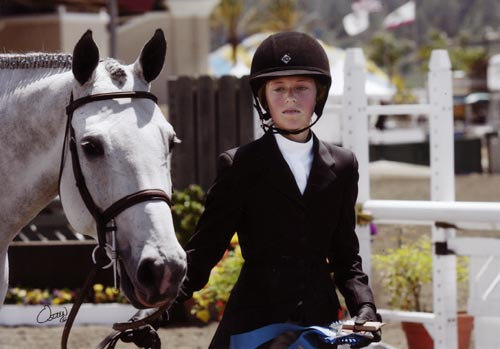 Alexandra Worthington and Cruise owned by Jessica Singer Champion Small Junior Hunter 15 & Under 2012 Del Mar National Photo Osteen
