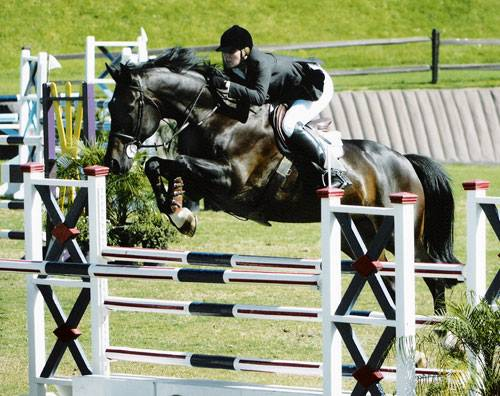 Camilla Cleese and Marnix G Competing in the Amateur Owner Jumpers 2004 Blenheim Photo by JumpShot