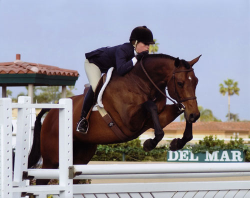 Teddi Mellencamp and Classified owned by Virginia Fout 2008 Del Mar National Photo Laura Weiner