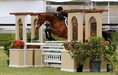 Lily Blavin and Montague Large Junior Hunter 15 and Under 2013 Blenheim Spring Photo G & G Equine