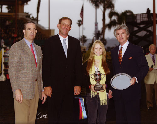 Lucy Davis Lifetime Perpetual Trophy PCHA Overall High Point Jr. Hunt Seat Rider 17 & Under 2008 Del Mar National Photo Osteen