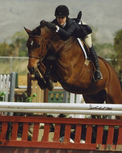 Shelby Wakeman and Quality Time Large Junior Hunter Champion 2008 HITS Desert Circuit Photo Flying Horse