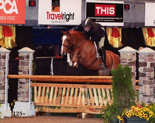 Archie Cox and Wesley owned by Ashley Pryde 2nd Year Green Hunters 125th National Horse Show at Syracuse Invitational 2008 Photo Reflections