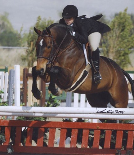 Ashley Pryde and Truly Large Junior Hunter Champion 2008 HITS Desert Circuit Photo Flying Horse