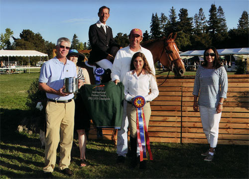 John French and Sander owned by Lily Blavin Winner $10,000 USHJA Hunter Derby 2012 Menlo Charity Photo JumpShot