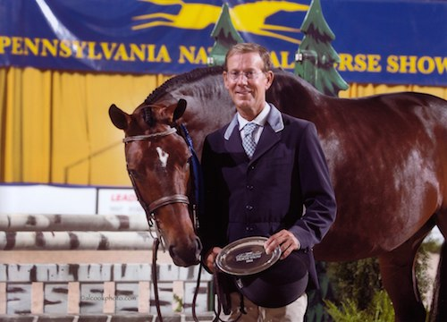 "Laura Wasserman's Boss ridden by John French 3'3"" Pregreen Hunter 2014 Pennsylvania National Photo Al Cook"