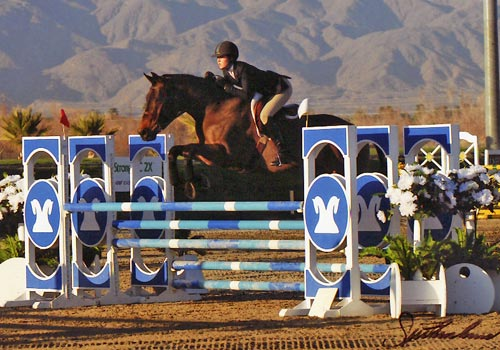 Zoie Nagelhout Top Qualifier WCE Medal Finals 2010 HITS Desert Circuit Photo Flying Horse