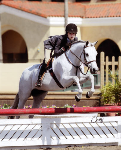 Skylar Nelson and Macy Grey owned by Wild Sky Farm Grand Champion Pony Hunters 2010 Del Mar National Photo Osteen