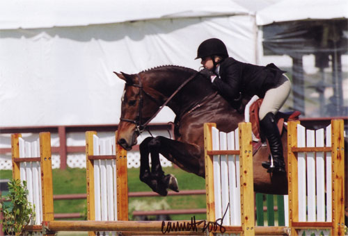 Ashley Pryde and Truly Large Junior Hunters 15 and Under Oaks Blenheim 2008 Photo Cathrin Cammett