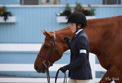 Lily Blavin and Pringle Small Junior Hunter 16-17 2014 Devon Horse Show Photo The Book LLC