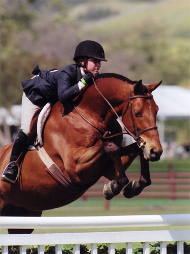 Delanie Stone and White Oak Large Junior Hunters 15 and Under Oaks Blenheim 2008 Photo Cathrin Cammett