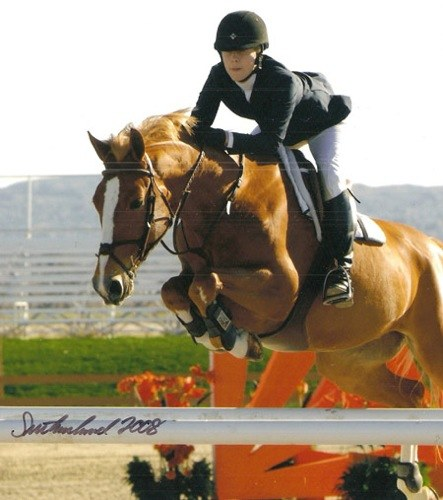 Laura Wasserman and Tustin 2008 HITS Desert Circuit Photo Flying Horse