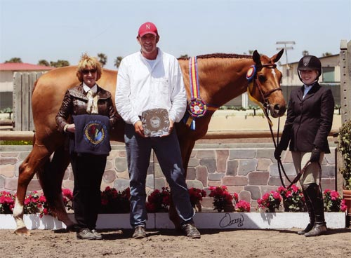 Ashley Pryde and Pringle Champion and Grand Champion Junior Hunters 2010 Del Mar National Photo Osteen