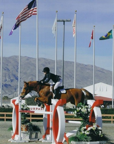 Laura Ware and Tustin 2008 HITS Desert Circuit Photo Flying Horse