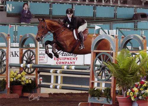 Ashley Pryde and Chaucer USEF Talent Search 2010 Del Mar National Photo Osteen