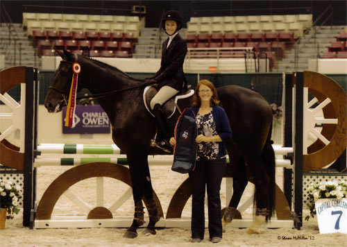 Alexandra Worthington and Romina Reserve Champion Equitation 12 & Under 2012 Capital Challenge Photo by Shawn McMillen