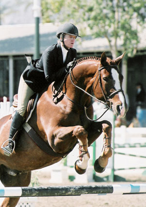Amy Brubaker and Well To Do Champion 2005 California Professional Horsemans Association Foundation Adult Medal Finals Portuguese Bend National Photo Flying Horse