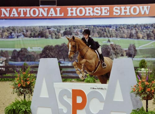 Gabbi Langston and Azlan ASPCA Maclay Finals 2011 National Horse Show Photo Shawn McMillen