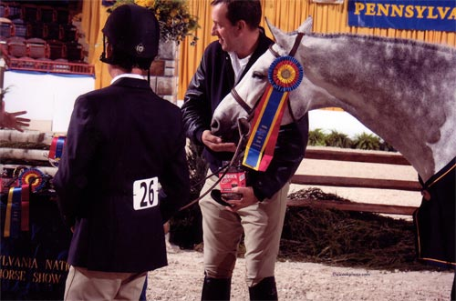 John French and Cruise owned by Jessica Singer Champion Green Conformation Hunters 2010 Pennsylvania National Photo Al Cook
