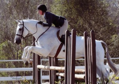 "Meredith Mateo and Chalice Amateur Owner Hunter 3'3"" 2014 Portuguese Bend Photo Captured Moment"