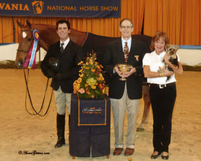 Peter Lombardo and Mandarin owned by Jane Fraze Champion Regular Conformation Hunter 2008 Pennsylvania National Photo Al Cook