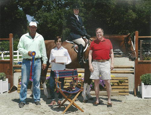 Polly Sweeney and Duet with Archie Cox Champion Adult Amateur Hunter 56 & Over 2013 Menlo Charity Photo JumpShot