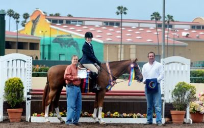 Polly Sweeney and Duet Best Adult Rider 2013 Del Mar National Photo Osteen