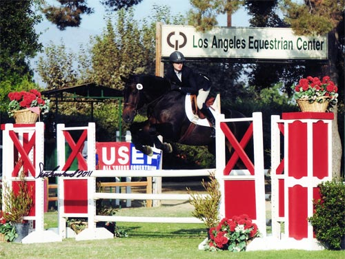 Zoie Nagelhout and Y2K 3rd Place USET Finals 2011 LA International Photo Flying Horse