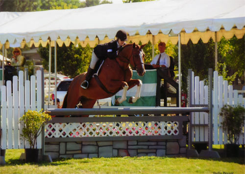 Polly Sweeney and Duet Amateur Owner Hunter 36 & Over 2012 Menlo Charity Horse Show Photo Bella Peyser