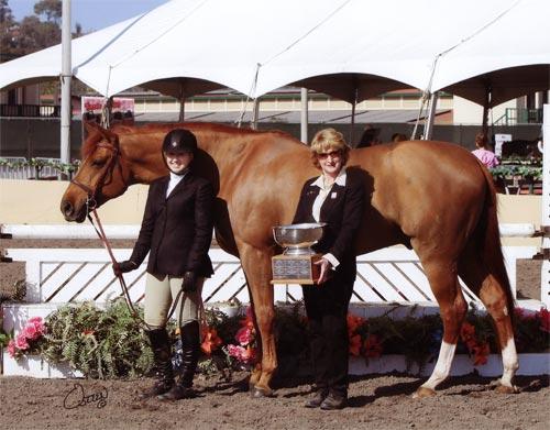 Ashley Pryde and Wesley Best Junior Hunter Under Saddle 2010 Del Mar National Photo Osteen