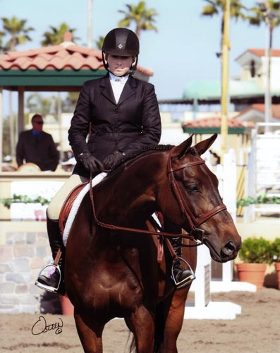 Ashley Pryde and Victory Road Awaiting the Blue 2010 Del Mar National Photo Osteen