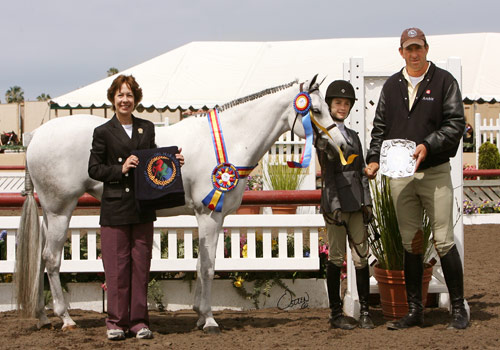 Macy Grey owned by Wild Sky Farm Grand Champion Pony Hunter 2009 2010 Del Mar National Photo Osteen