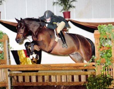 Alex Becksett and Callaway owned by Stephanie Danhakl Reserve Champion 2004 Metropolitan National Horse Show Photo Flashpoint