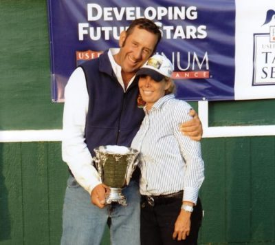Archie Cox and Robyn Steigler Trainers USET Finals Champion Demi Steigler 2011 LA International Photo Flying Horse