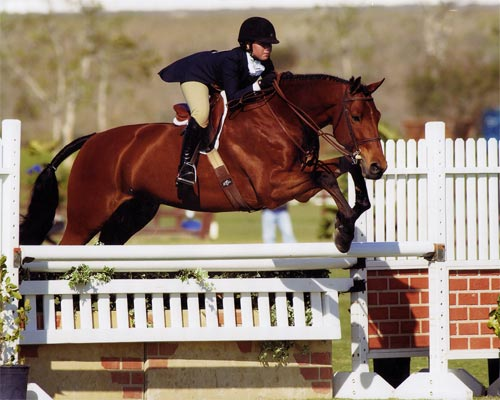 Delanie Stone and White Oak Winner Large Junior Hunters 15 and Under 2007 Blenheim Photo by Jumpshot