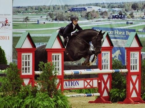Demi Steigler and Vigo Reserve Champion ASPCA Finals 2011 National Horse Show Photo Shawn McMillen