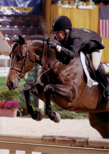 Elizabeth Solter and Stay Tuned owned by Emma Gerber Second Year Green Hunter 2012 Pennsylvania National Photo Al Cook